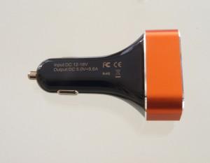 Gosin 4-fach USB KFZ Adapter und Ladegerät