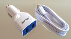 BESTEK Qualcomm 2.0 Quick Charge USB KFZ Schnellladegerät mit 2 USB Ports und 36W Leistung.