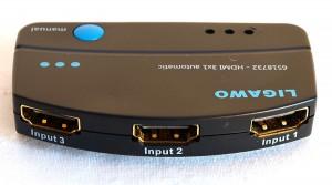 Ligawo 6518732 HDMI Switch 3x1 automatisch + IR Extender Fernbedienung