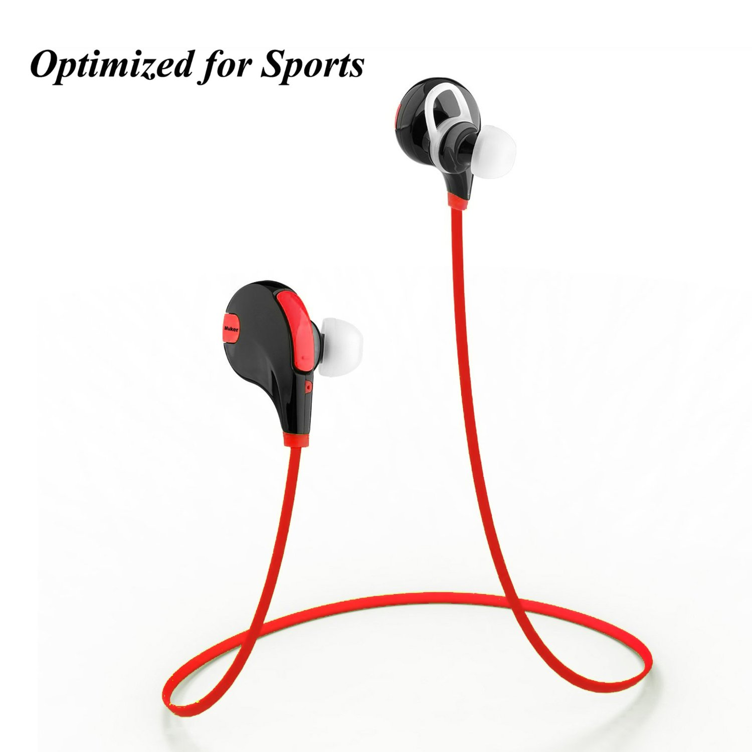 muker feather bluetooth kopfh rer 4 1 wireless sport stereo headset test. Black Bedroom Furniture Sets. Home Design Ideas