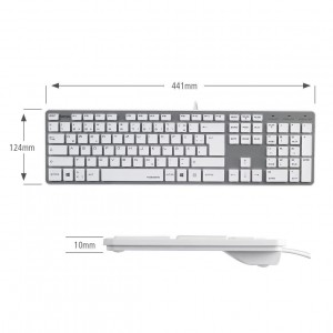 Hama PC-Tastatur Rossano im Slim-Design, USB, QWERTZ-Layout