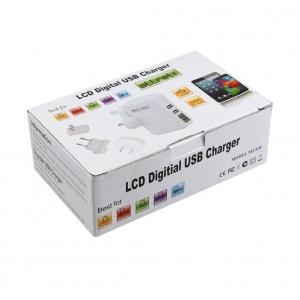 aLLreLi 2-Port USB Reiseladegerät Kit mit austauschbarem Stecker für USA, UK, RU und E. Universal Ladegerät für Smartphones & Tablets