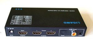 Ligawo 6518748 HDMI Splitter 1x2 - Audio Extractor/ EDID Control/ ARC