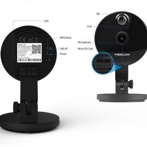 Foscam C1 IP Kamera, 720p HD Überwachungskamera