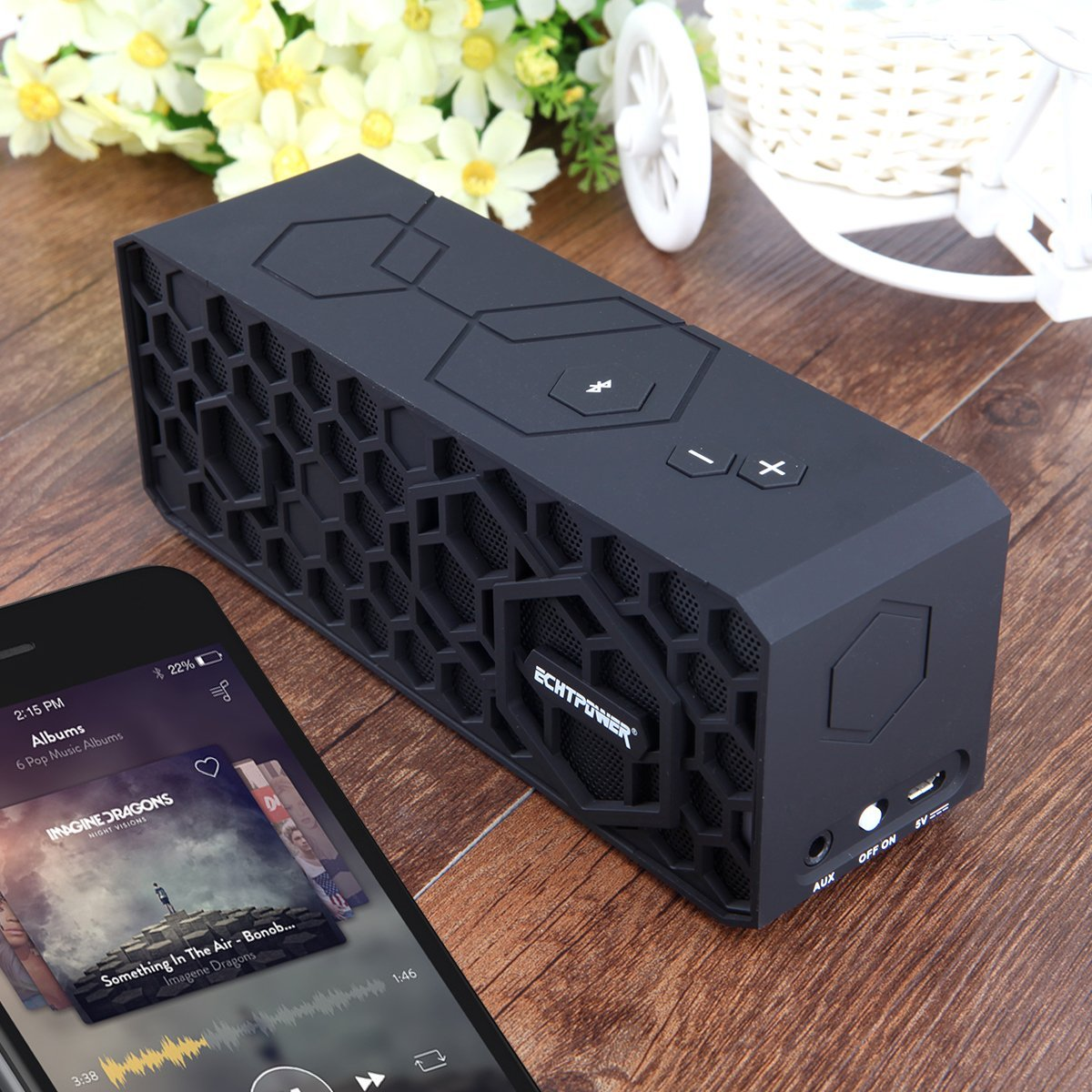 echtpower honeybox stereo high end tragbarer hi fi. Black Bedroom Furniture Sets. Home Design Ideas