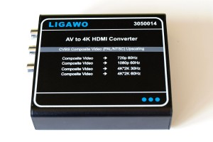 Ligawo 3050014 AV CVBS SCART/S-Video Analog auf HDMI 4K Scaler Digital Wandler