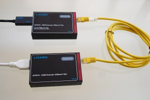Der Ligawo 3070010 HDMI Extender mit HD-Base-T Technik