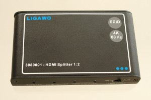 Ligawo 3080001 HDMI Splitter 1x2. Ideal für Ultra HD 4K/60Hz