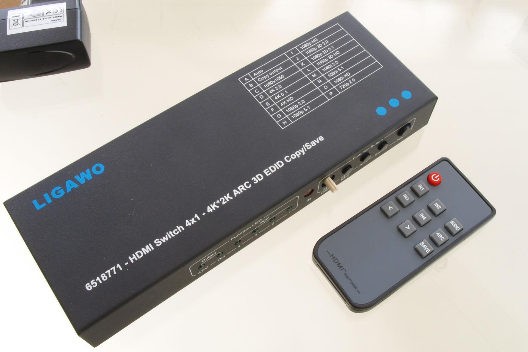 Ligawo 6518771 HDMI Switch 4x1