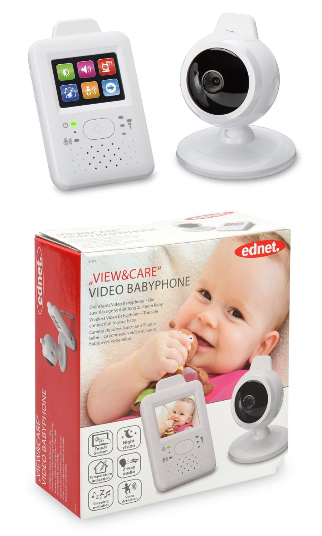 Ednet Viw & Care Video Babyphone mit Touchscreen