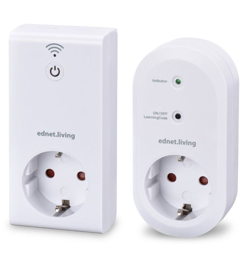 Ednet.Living Switch Smart Plug Starter Kit 84290, App gesteuertes Smart Home System