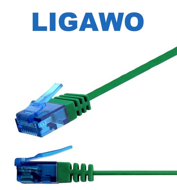 Ligawo Flachband Netzwerkkabel