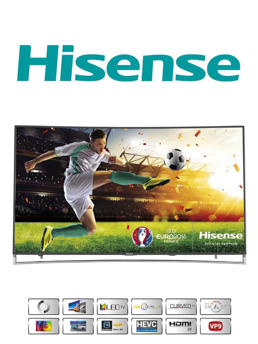 Der 65 Zoll Hisense LTDN65XT910 Ultra HD Curved Fernseher