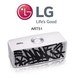 Der neue LG Art #51 Bluetooth Lautsprecher. Design by JonOne