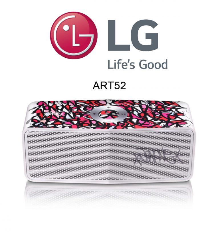 Der LG Art #52 Color Waves Bluetooth Lautsprecher im Test. Design by JonOne