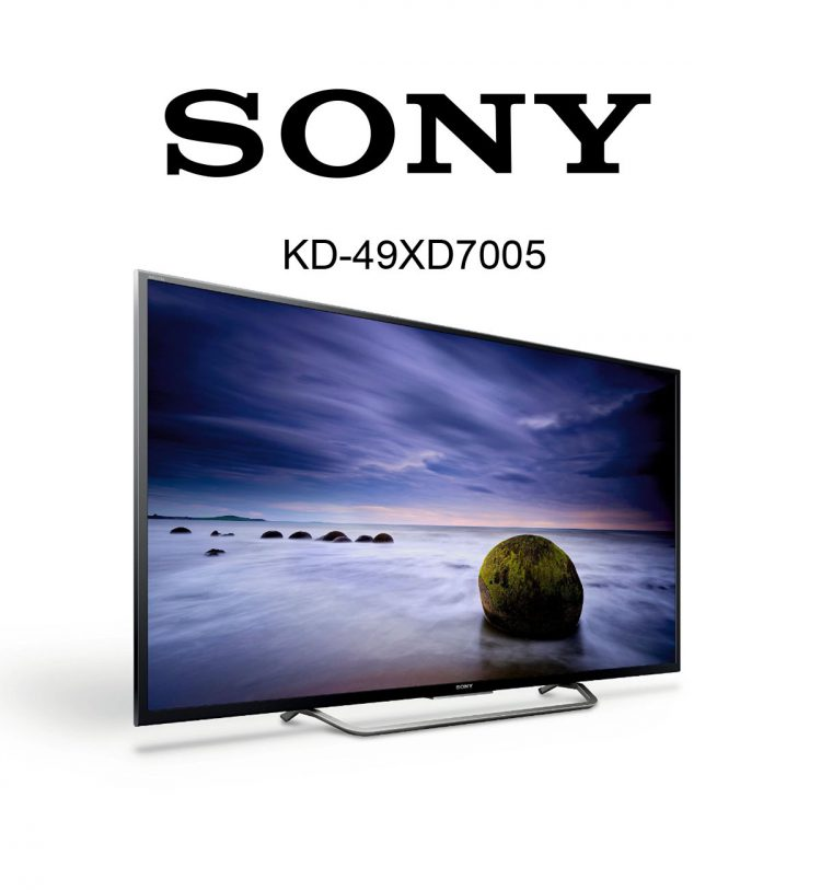 49 zoll sony bravia kd 49xd7005 ultra hd tv mit hdr im. Black Bedroom Furniture Sets. Home Design Ideas