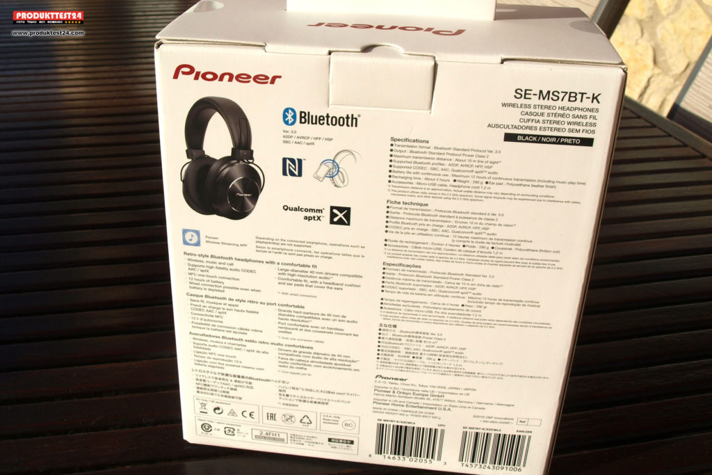 Pioneer ME-MS7BT Over-Ear Bluetooth Kopfhörer mit Hi-Res Audio