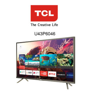 TCL U43P6046 Ultra HD Fernseher mit HDR10