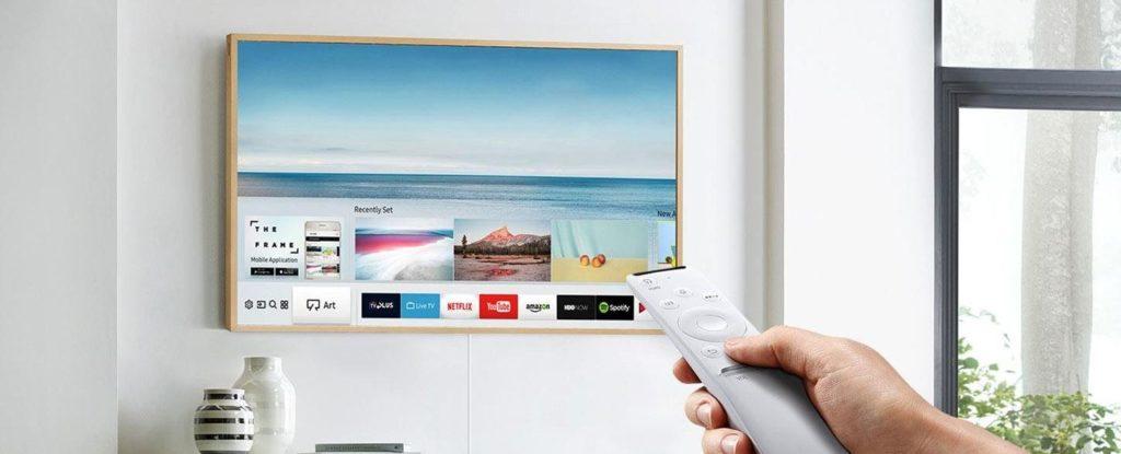 Samsung the frame ue55ls003 ultra hd fernseher mit hdr im - Flachbildfernseher wandmontage ...