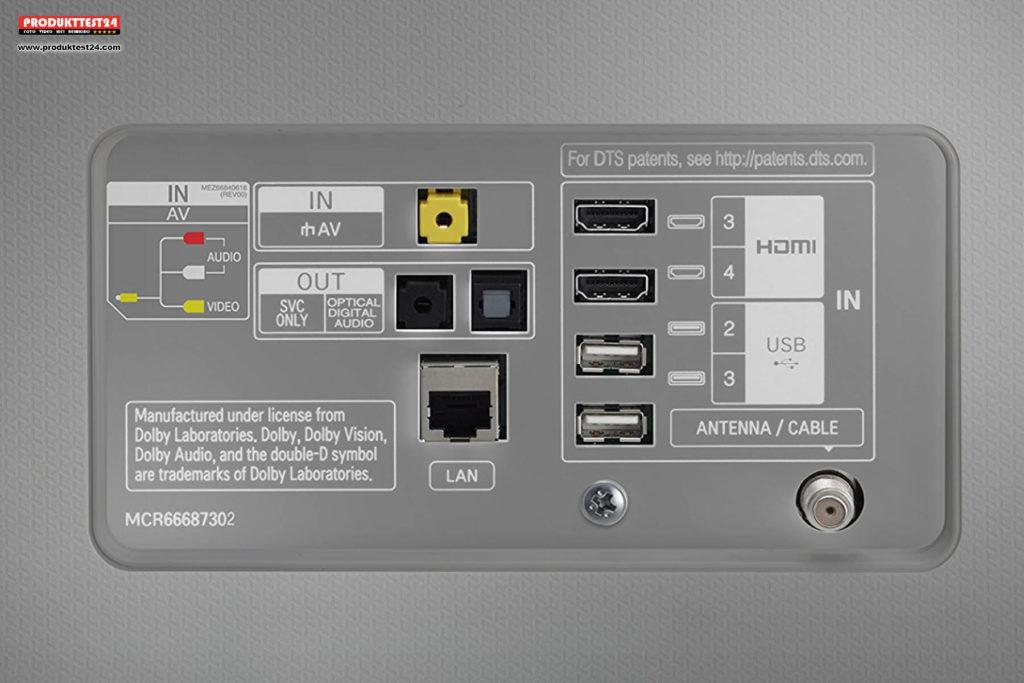 LG 65SJ800V - Anschlüsse