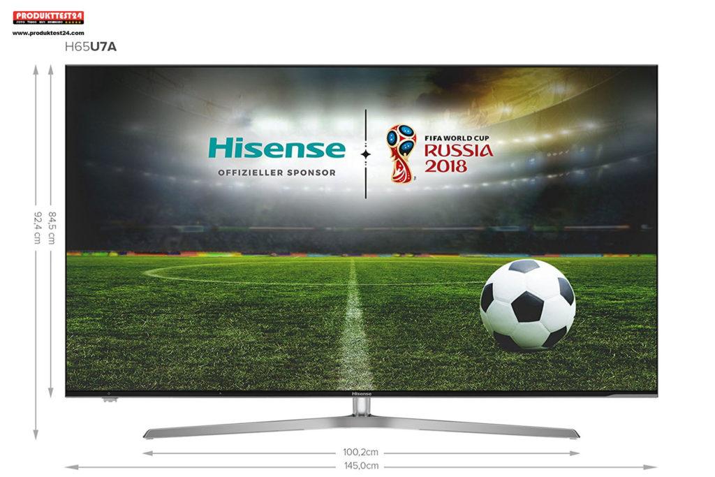 Hisense H65U7A Ultra HD ULED Fernseher mit HDR Plus
