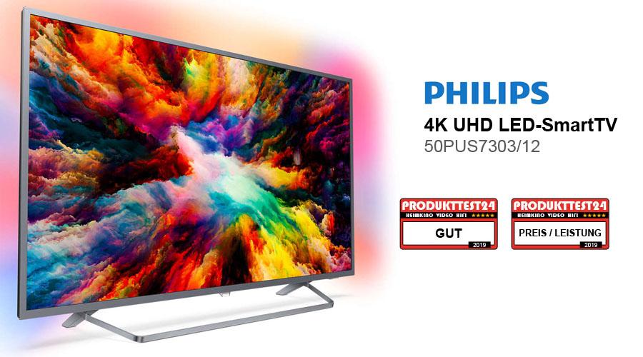 Im Test: Philips 50PUS730312 Ultra HD Fernseher mit