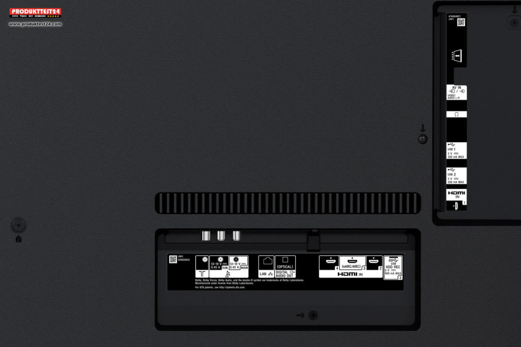 Sony KD-65XG9505 - Anschlüsse