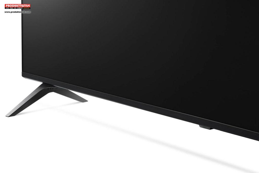 LG 55SM8500 - Dünner Rahmen und schlanke Standfüße im Aluminium Design