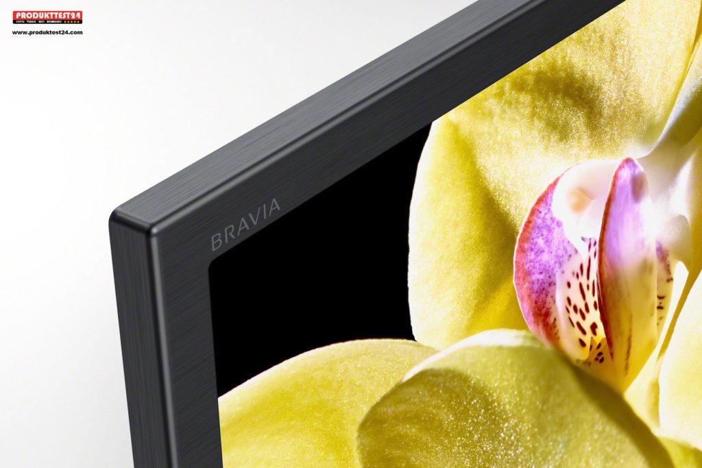 Sony XG80 - Edler Rahmen in gebürsteter Aluminiumoptik