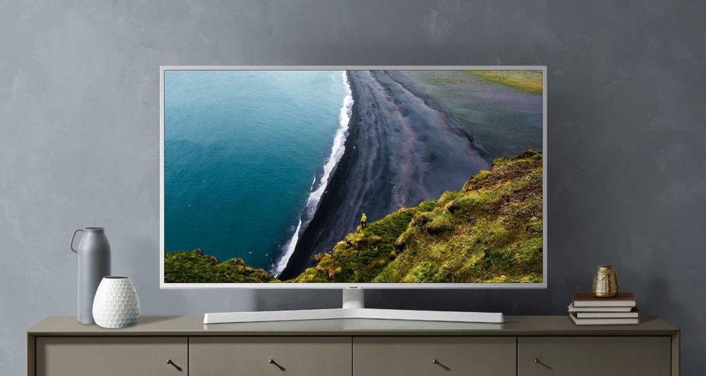 Weißer Fernseher