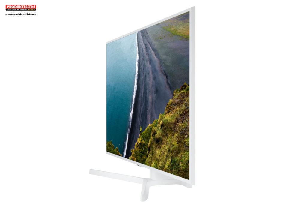 Weißer Samsung 4K Fernseher