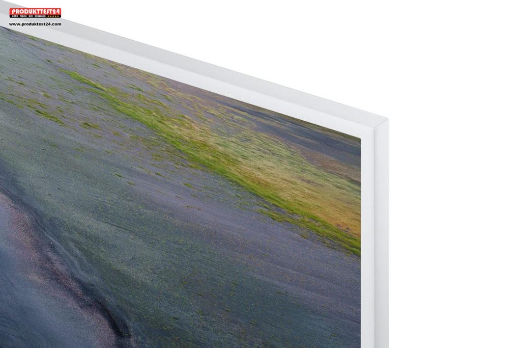 Dünner weißer Rahmen - Samsung RU7419 Serie