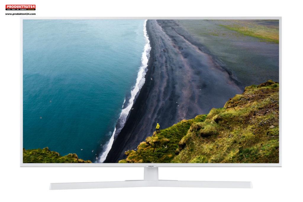 Der weiße Samsung UE50RU7419 im Test