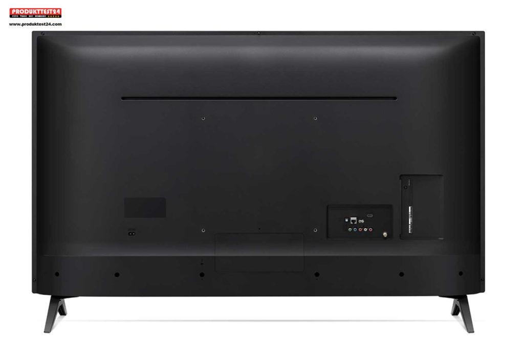 Aufgeräumte Rückseite mit zahlreichen digitalen und analogen Anschlussmöglichkeiten