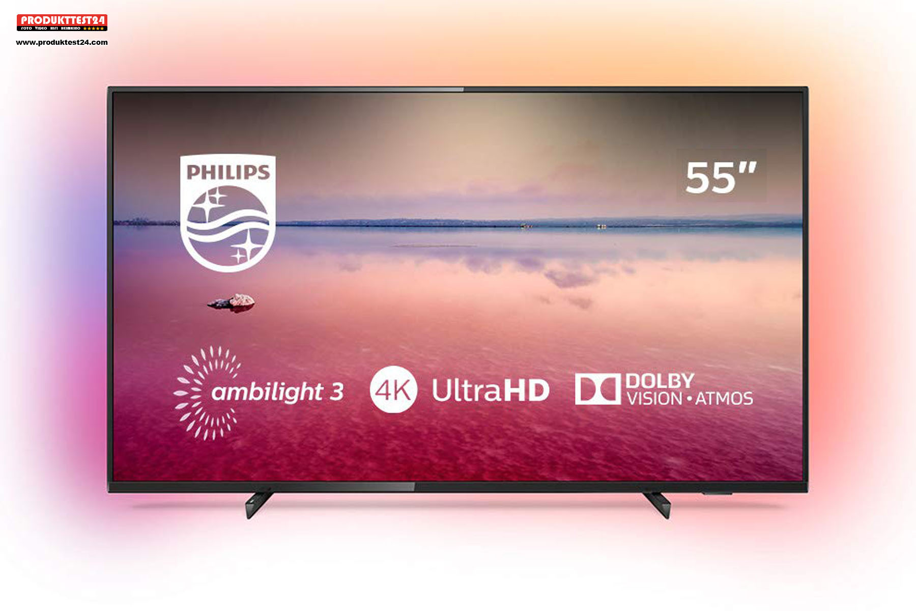 Philips 55PUS6704/12 Ultra HD Fernseher mit Ambilight, Dolby Vision und Dolby Atmos