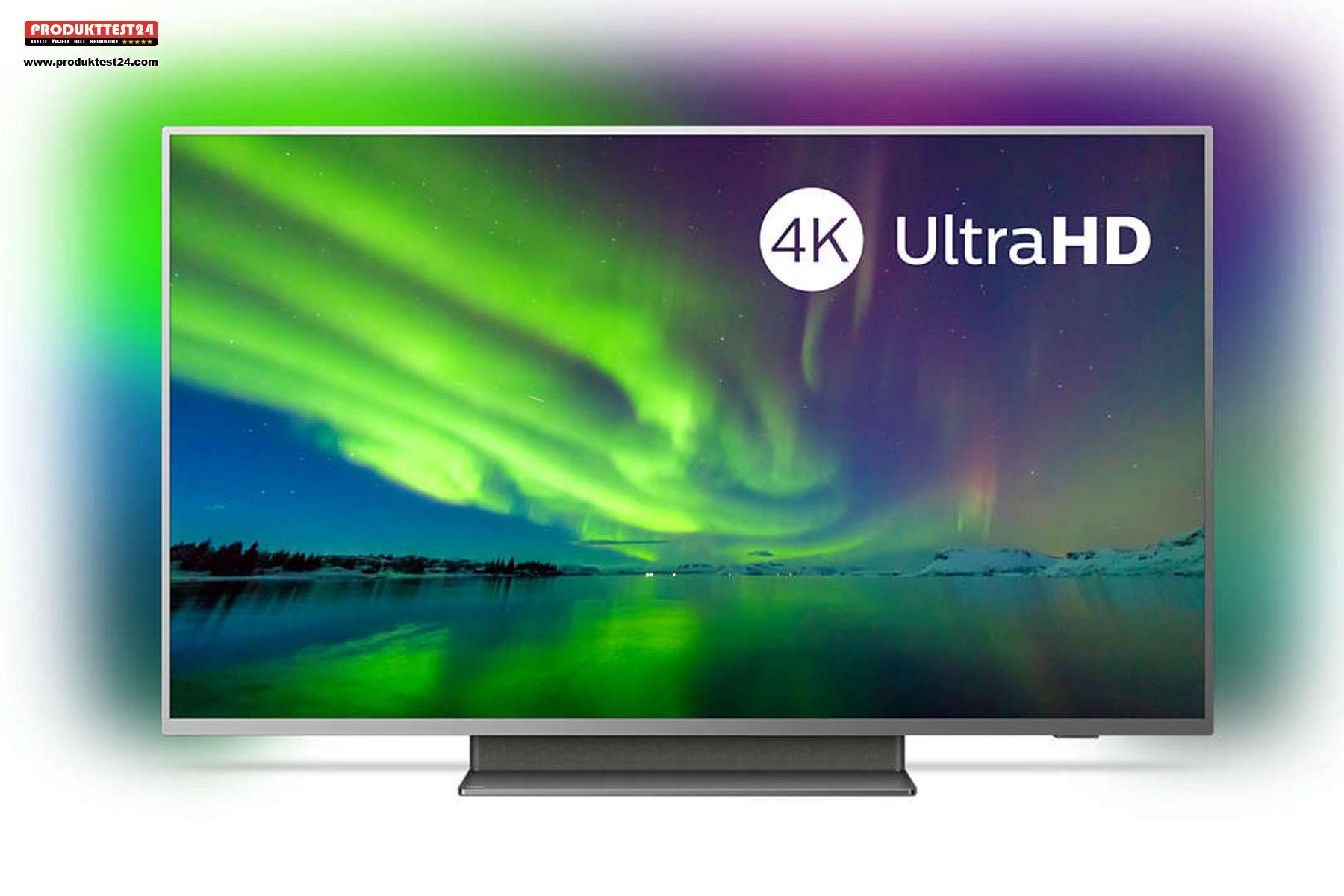 Philips 55PUS7504/12 mit Ambilight, Android 9 SmartTV und Triple Tuner