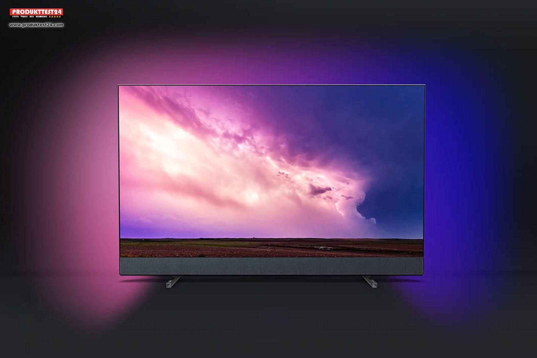 Der Philips 55PUS8804/12 Ambilight 4K Fernseher mit Bowers & Wilkins Soundsystem