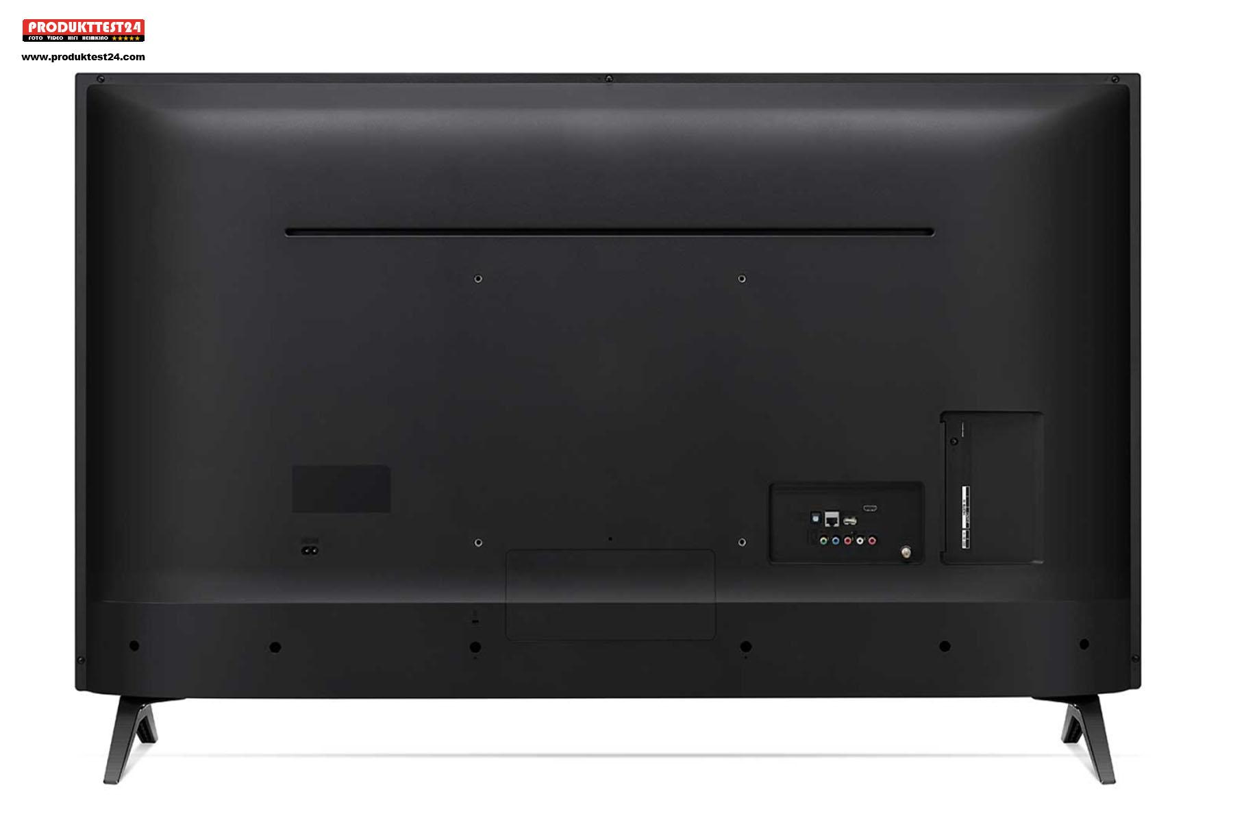 Die Rückseite des LG 70UM7100 4K-Fernseher