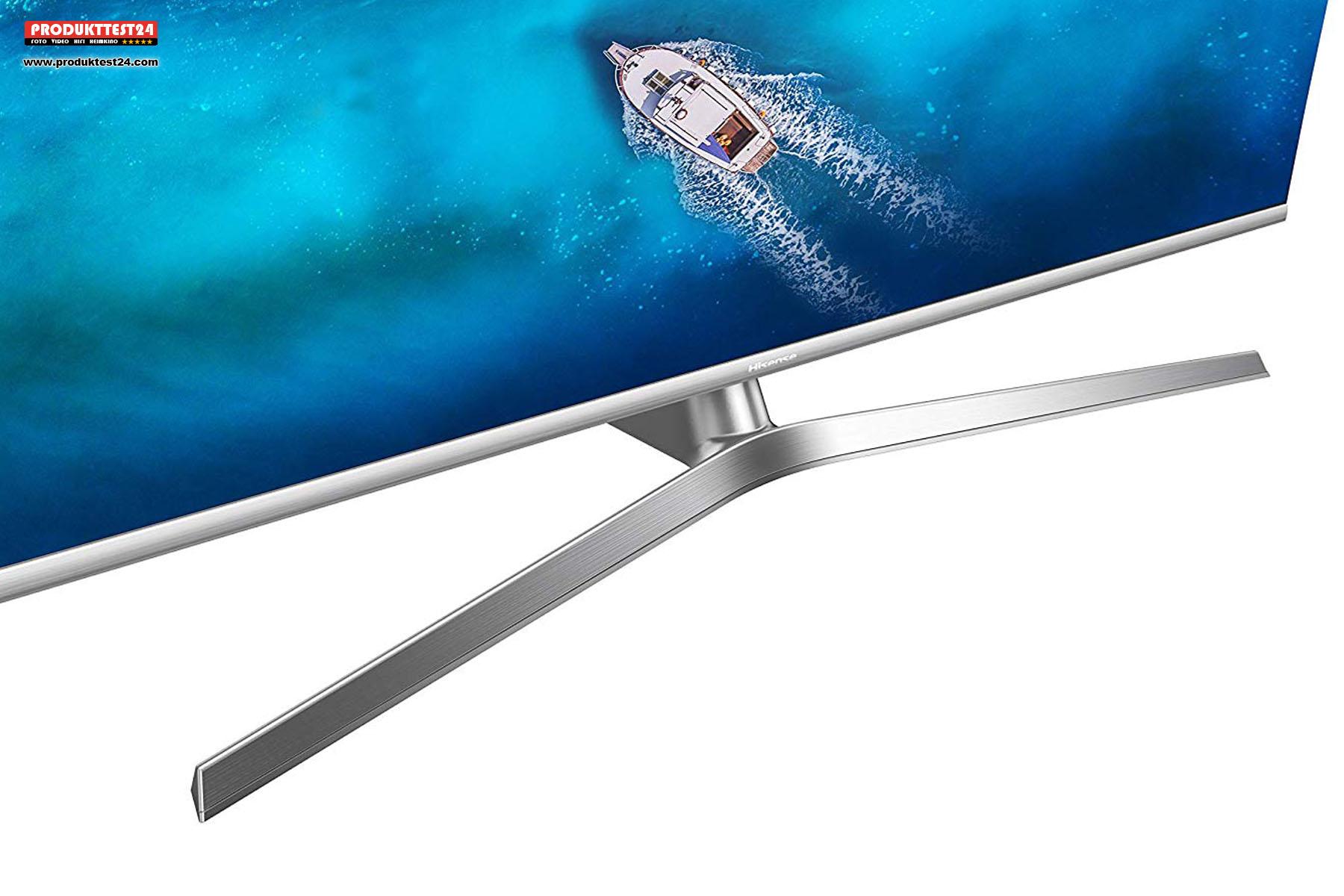 Metall Standfuß des Hisense H55U7B ULED Fernseher