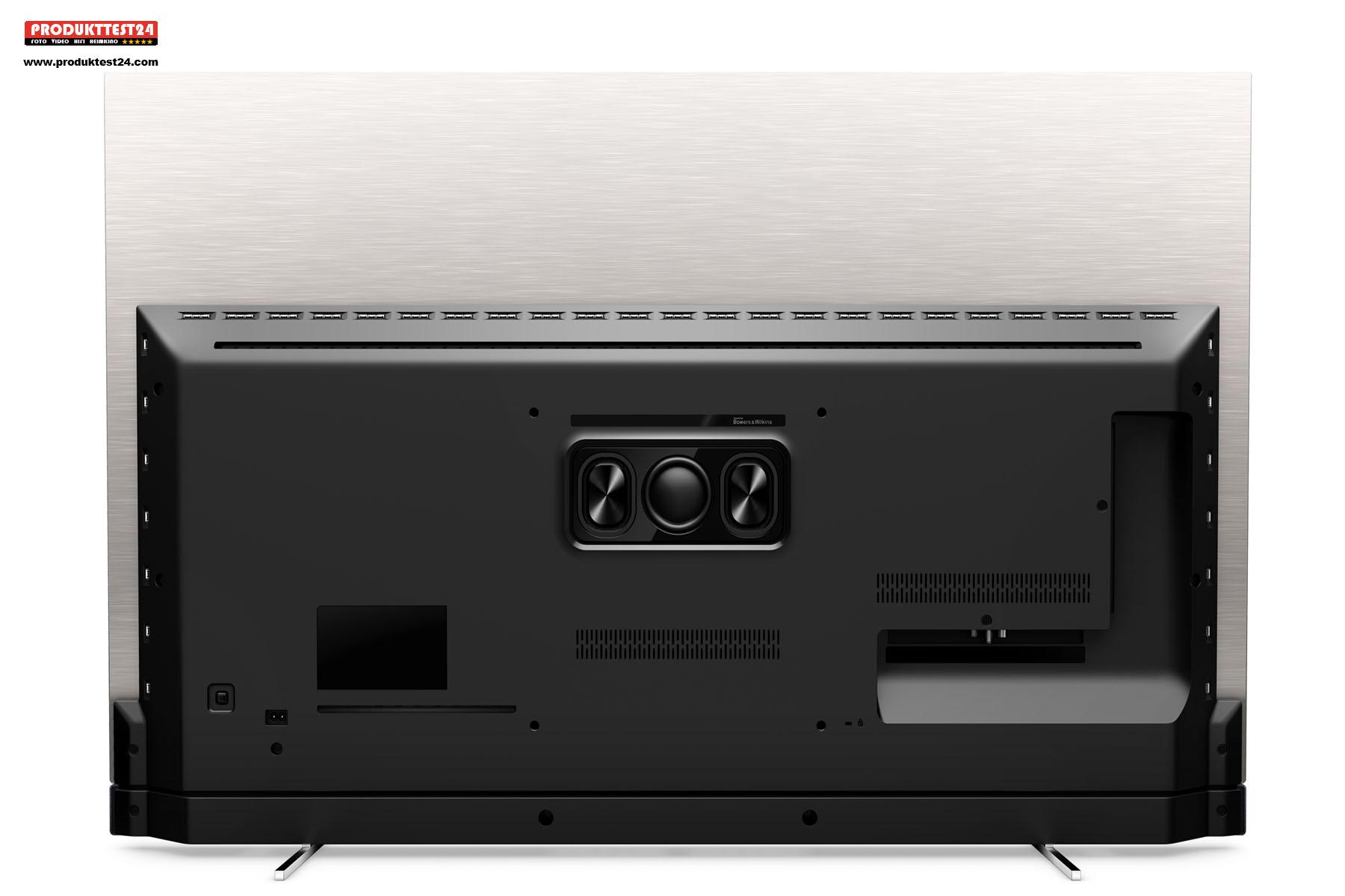 Die Rückseite des Philips OLED Fernsehers