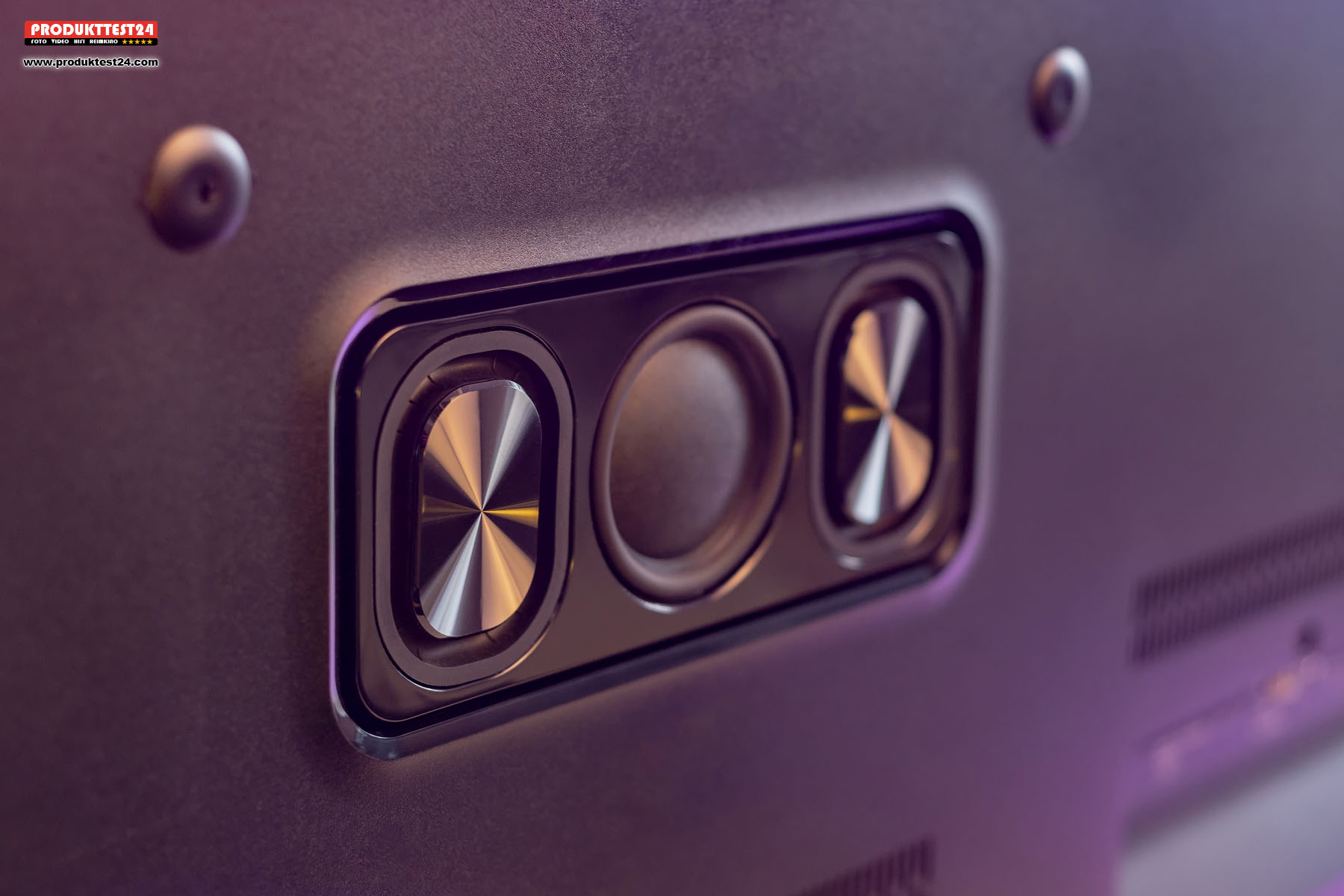 Das 2.1 Kanal Soundsystem mit integriertem Subwoofer