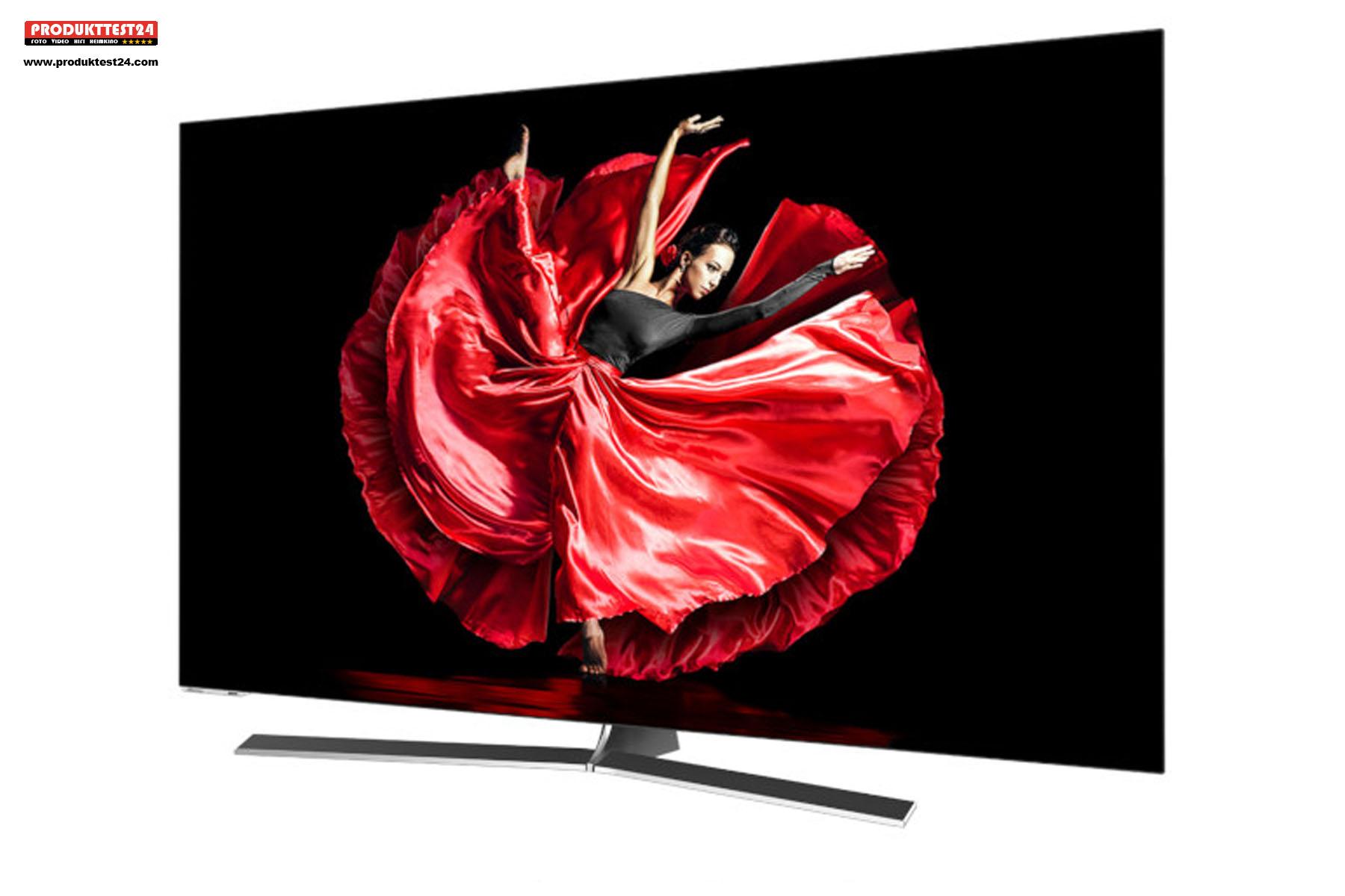 Der Hisense OLED Fernseher mit 55 Zoll Bilddiagonale