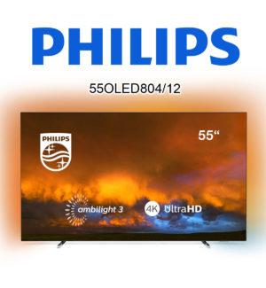 Philips 55OLED804/12 Ultra HD 4K-Fernseher mit Ambilight