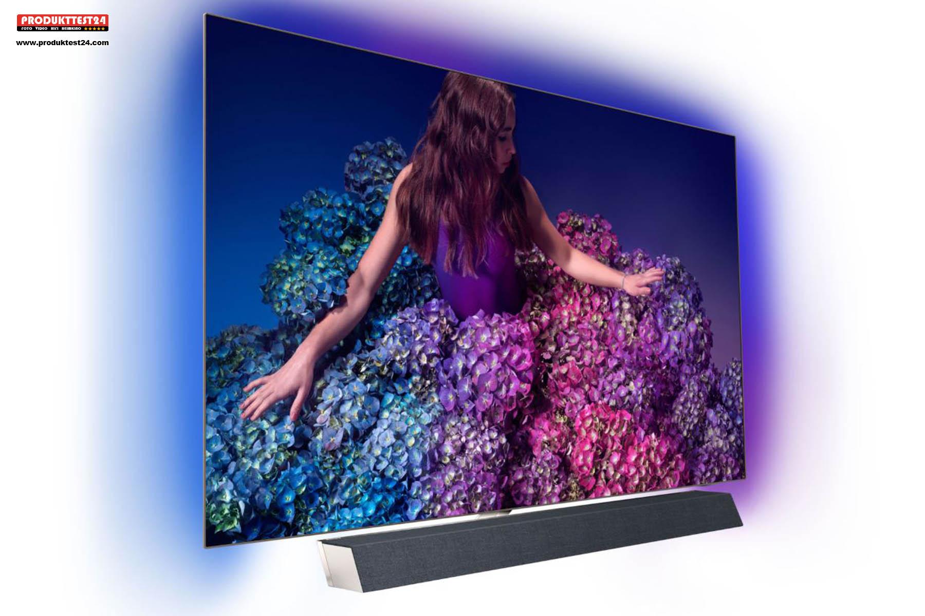 55 Zoll Bilddiagonale mit HDR10+ und Dolby Vision