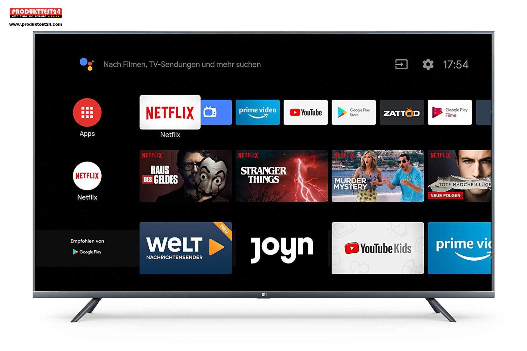 Android.TV mit Google Assistant Sprachsteuerung, Netflix und Amazon Prime Video