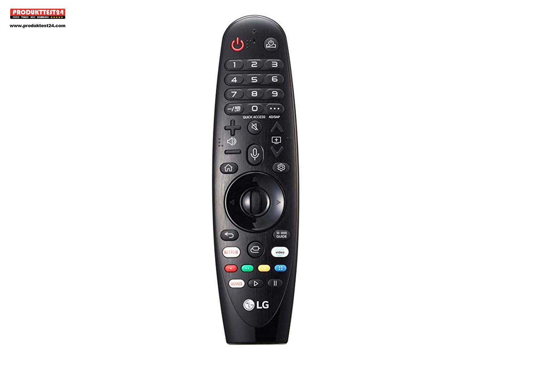 Die Magic Remote Fernbedienung ist bereits im Lieferumfang enthalten.