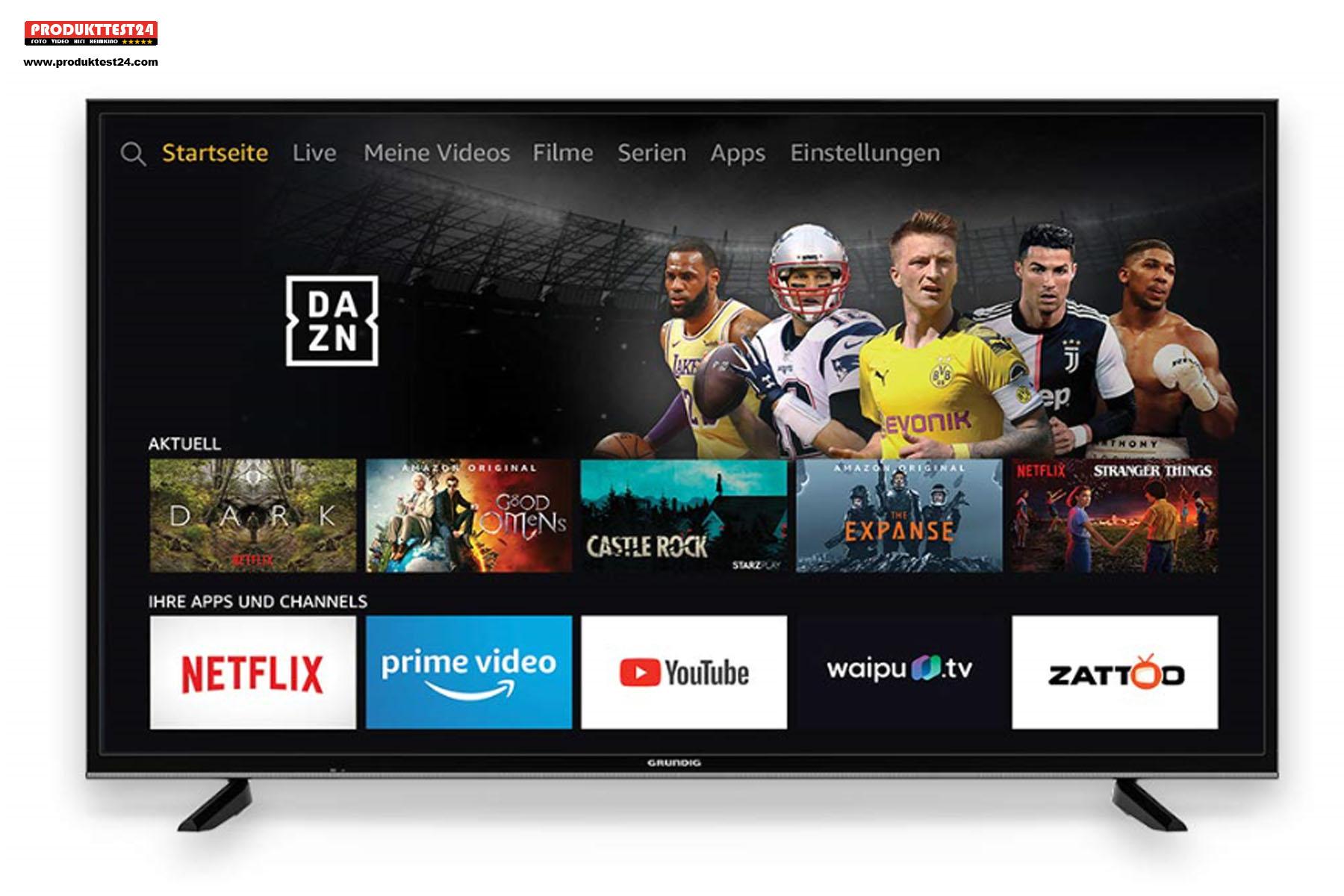 Der Grundig TV mit dem Fire OS Betriebssystem
