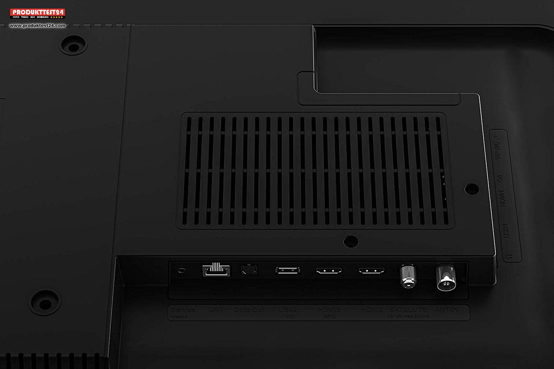 Anschlüsse des Grundig 65 VLO 8589 Fire TV Edition