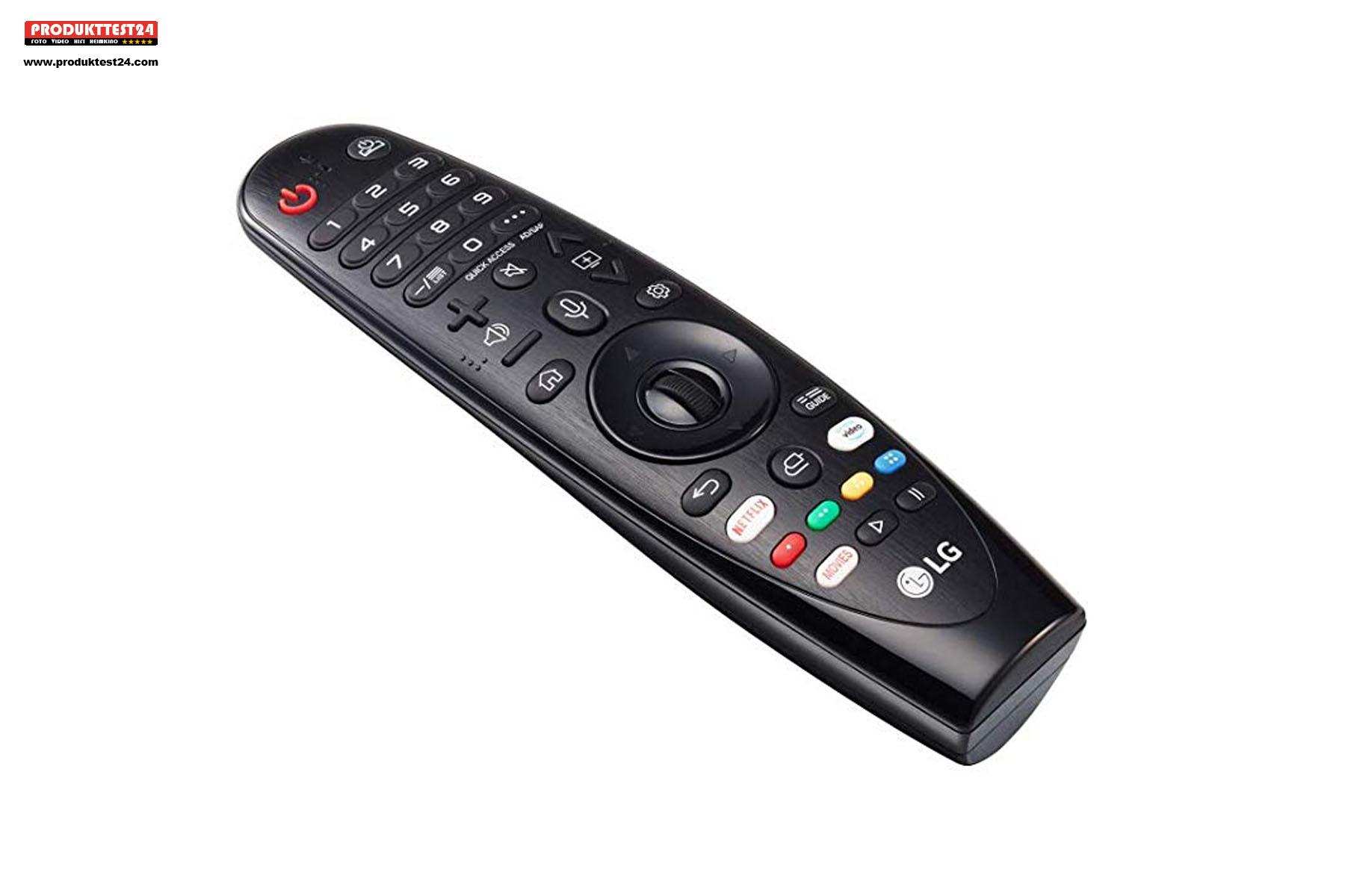 Die LG Magic Remote Fernbedienung ist auch dabei