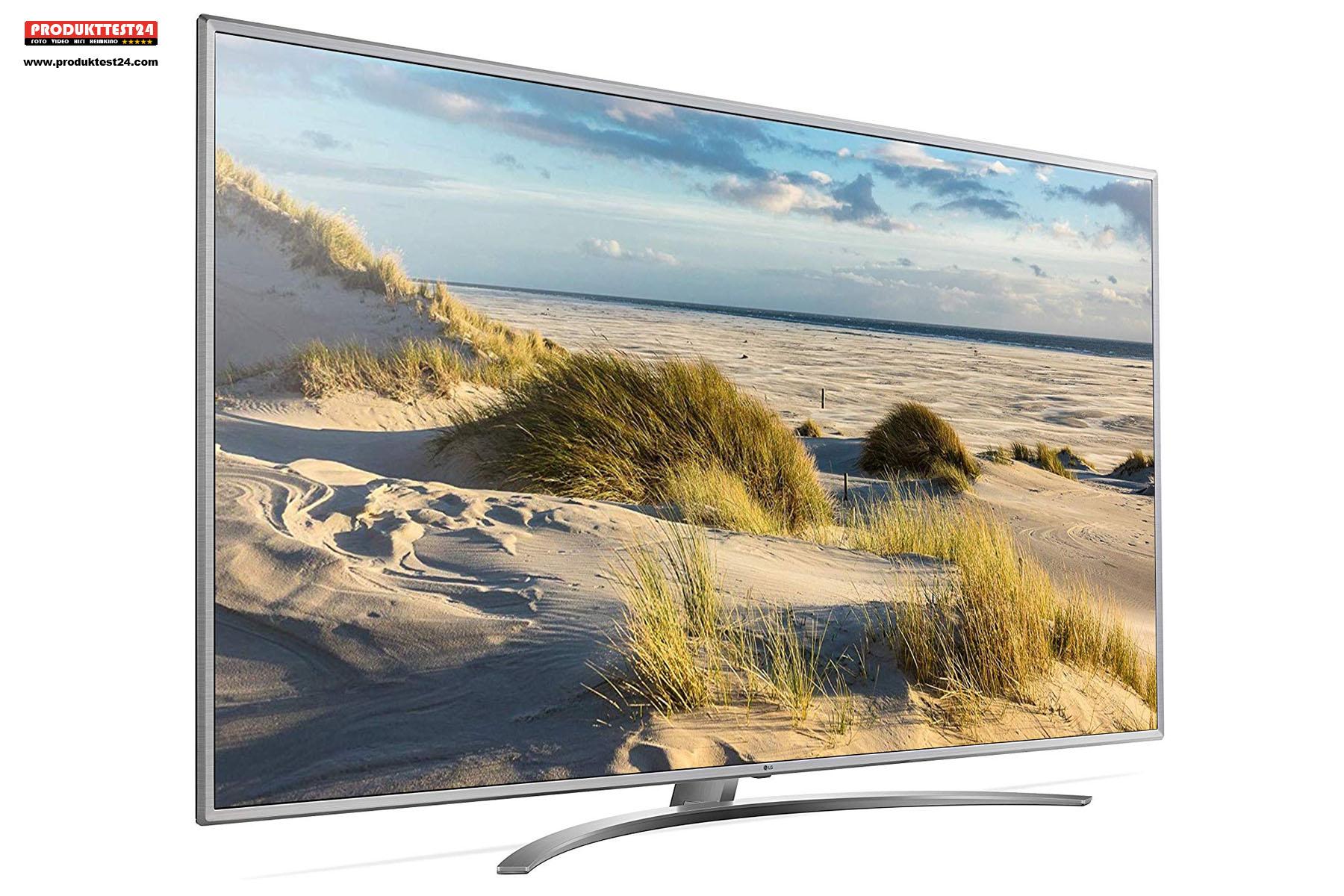 Der LG Großbildfernseher mit einer Bilddiagonale von 217 cm